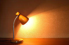 Luminous Desk Lamp Royalty Free Stock Photos