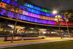 Luminous Display in Darling Harbour. Royalty Free Stock Photo