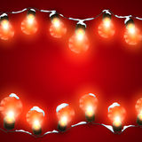 Luminous Electric Garland Royalty Free Stock Photo