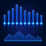 Luminous Equalizer on Dark Background Royalty Free Stock Photos