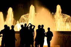 Luminous Fountain Stock Photography