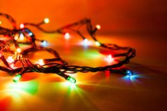 Luminous garland Stock Photos