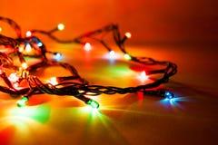 Luminous garland stock photos