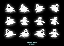 Luminous ghosts Stock Image
