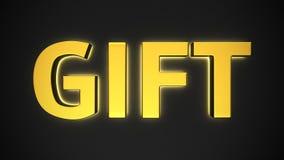 Luminous gift Stock Images