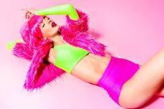 Luminous girl Royalty Free Stock Image