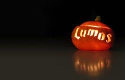 Luminous halloween pumpkin Stock Photography
