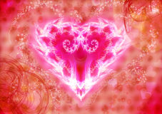 Luminous heart Stock Photo