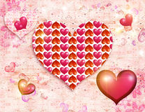 Luminous hearts Royalty Free Stock Photos