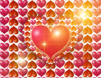 Luminous hearts Royalty Free Stock Photo