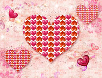 Luminous hearts Royalty Free Stock Images