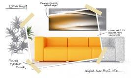Luminous interior Stock Images