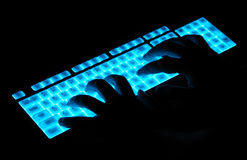 Luminous keyboard Royalty Free Stock Images