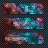 Luminous neon glass background with bokeh effect. Blurred geometric backdrop for banners and site headers stock illustration