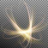 Luminous nuclear model on transparent background. EPS 10 vector. Luminous nuclear model on transparent background. Glitter sparkle swirl trail effect. And also Royalty Free Stock Photo