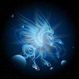 Luminous Pegasus in Space royalty free illustration