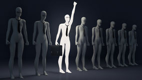 Luminous person. Symbol of individualism. Business Royalty Free Stock Photos