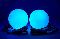 Luminous poi - equipment for juggling Royalty Free Stock Image