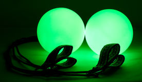 Luminous poi - equipment for juggling Stock Image