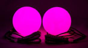 Luminous poi - equipment for juggling Stock Photography