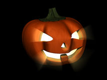 Luminous pumpkin. This is a luminous pumpkin with devil smile and eyes from Halloween stock illustration