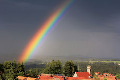 A luminous rainbow Stock Photo