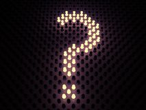 Luminous sign of question Stock Images