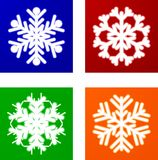 Luminous Snowflakes. Stock Photos