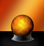Luminous sphere. With glass base Stock Images