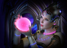 The luminous Sphere, 3d CG royalty free illustration