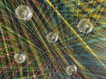 Luminous sphere in a disco Stock Photo