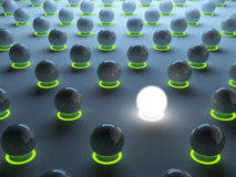 Luminous sphere. Individuality Stock Photo