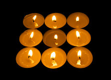 Luminous square from candle Royalty Free Stock Image
