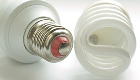 Luminous tube lamp Stock Photos
