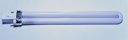 Luminous tube lamp Stock Image