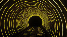 Luminous tunnel Stock Photography