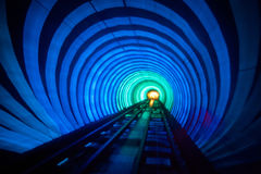 Luminous tunnel of Shanghai; Stock Photo