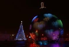 Luminous urban on Christmas stock photography