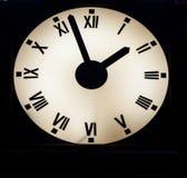 Luminous wall clock Royalty Free Stock Photos