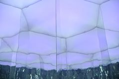 Luminous wall with geometric designs. The luminous wall with geometric designs royalty free stock photo