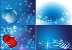Luminous winter backgrounds set Stock Photography