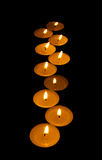 Luminous zigzag from candle Stock Photos