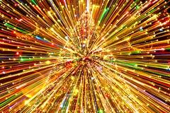 Lumière abstraite d'arbre de Noël Photos libres de droits
