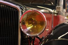 Lumière antique d'automobile Photographie stock