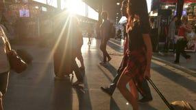 Lumière du soleil à la gare ferroviaire du nord, Bucarest, Roumanie Photographie stock