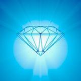 Lumière lumineuse de coupe brillante de diamant Photos libres de droits