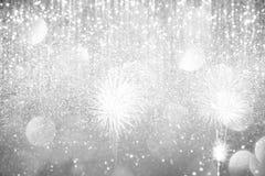 Lumières argentées abstraites sur le fond Image libre de droits