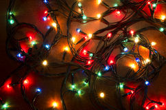 Lumières clignotantes colorées de Noël Photographie stock