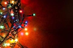 Lumières clignotantes colorées de Noël Photos libres de droits