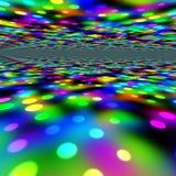 Lumières colorées de réception Images stock